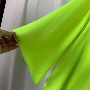 Alberto Makali Tops - Alberto Makali Neon Green White Beaded Tunic Swim